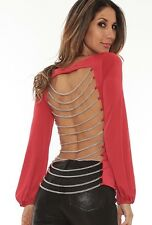 Savee Couture Open Back Chain Top