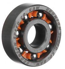 """Bronson velocità Co """"RAW"""" SCUDO-meno di 608 Cuscinetti Skateboard Longboard velocità 8 mm"""