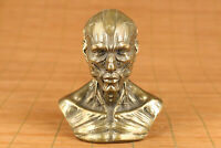 chinese copper casting skull man statue figure collectable ornament art