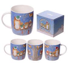 Jan Pashley Christmas Owls Single Bone China Mug Bone China Gift Box xmug10