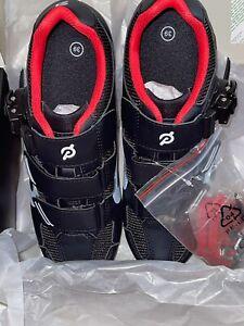 Peleton EU 39 US 7 Bike Shoes Women Cleats Black Red