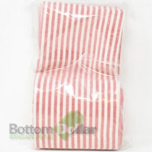 Pottery Barn 6-Pack Wheaton Striped Linen & Cotton Napkins Red/ White