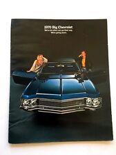1970 Chevrolet 24-page Car Sales Brochure - Caprice Classic Impala Bel Air
