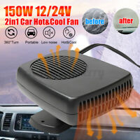 DC 12V/24V Car Portable Heating Cooling Heater Fan Ceramic Defroster Demister