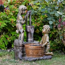 Solar Powered Water Pump Cascade Fountain Outdoor Water Feature