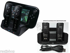 BLACK CHARGER DOCKING STATION +2x BATTERY PACK FOR WII & WII U REMOTE GAMEPAD