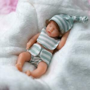 6'' Reborn Doll Mini Baby Full Silicone Realistic W/ Clothes Girl Gift Washable