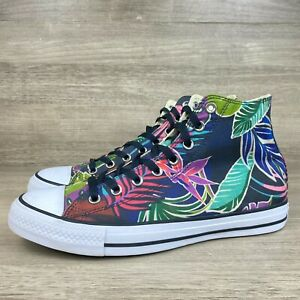 Converse Floral Chuck Taylor All Star High Top Sneakers Men's Shoes Size 9