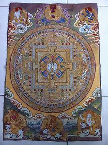 Tibet Nepal thangka tara buddha Kuan statue Guan Yin Exorcism peace wealth NER08