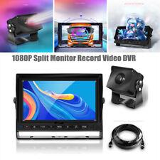 "Waterproof 7""Digital Wireless Backup Camera 1080P Split Monitor Record Video DVR"