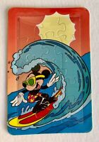 Disney Mickey Mouse Surfing-Riding an Ocean Wave-15 piece  Puzzle  Postcard NEW