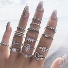 15 Pcs/set Womens Girls Vintage Sliver Knuckle Ring Midi Finger Rings Jewellery