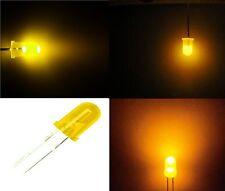 25 diodi led 5 mm giallo foggy LUCE DIFFUSA CON RESISTENZE OMAGGIO