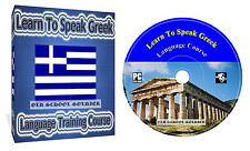 Learn to Speak Greek Language Training Course on one CD Disk