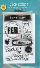 HERO ARTS Clear Stamp MONTH FEBRUARY Valentine Aquarius