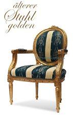 alter goldener Sessel Armlehnstuhl Barockstil schöner Shabby Chic Zustand TOP
