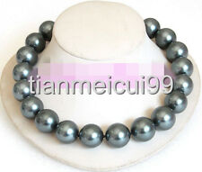 20mm 100% Tahitian black south sea shell pearl necklace