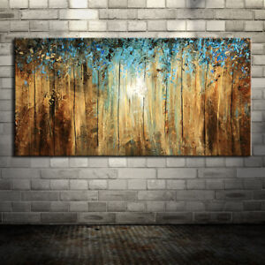 Hand Painted Canvas Oil Paintings Modern Abstract Tree Oil Painting On Canvas
