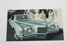1971 PONTIAC GRAND PRIX HARDTOP COUPE DEALER ADVERTISING  POSTCARD