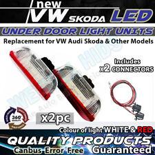 2 x LED de Luz de puerta de cortesía REPOSAPIÉS VW Golf Jetta VW Passat Mk6 MK7