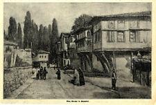 Eine Straße in Stambul Grafik von unbekannter Hand von 1912