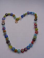 Design Glaskette Murano Italien Millefiori Kette Necklace Halskette Glas Nr.182