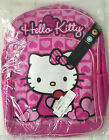 """❤️Sanrio Hello Kitty Backpack Pink Hearts 16"""" Large Girls School NEW Book Bag❤️"""