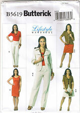 Easy Lifestyle Wardrobe Suit Jacket Dress Pants Skirt Sewing Pattern 16 18 20 22