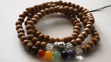 Mala Bead Necklace/Bracelet Chakra Reiki Balance Natural Gemstones Crystal Gift
