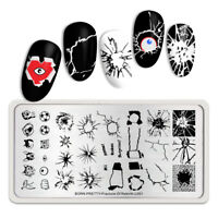 BORN PRETTY Nagel Schablone Decompress Theme Rectangle Nail Stamping Plate L001