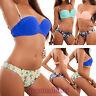 Bikini donna costume bagno due pezzi fiori brasiliana push up mare nuovo B5509