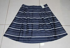 NWT Womens size 16-18 blue and white sateen full skirt made by TARGET