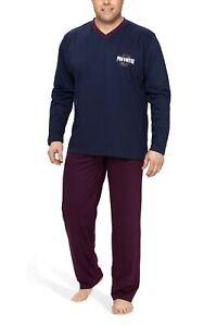 Herren Schlafanzug Nachtwäsche Pyjama 100/% Baumwolle Gr.58-64 3XL-6XL SUPER/_ /_ /_