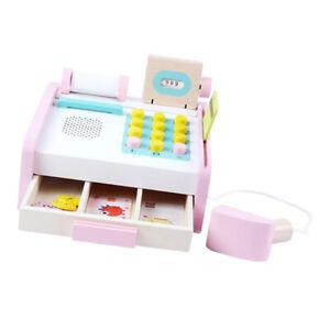 Infant Toys Wooden Baby Simulated Cash Register - Digital Cognitive Toy Kids