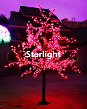 Red 6.5ft/2m LED Cherry Blossom Tree 864 LEDs Home Wedding Party Outdoor Decor