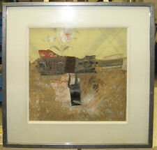 Karl Mann 1973 Abstract Collage Assemblage Listed New York Artist, Designer