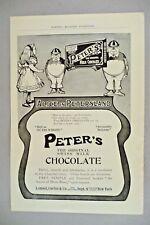 Peter's Swiss Milk Chocolate PRINT AD - 1905 ~~ Alice In Wonderland