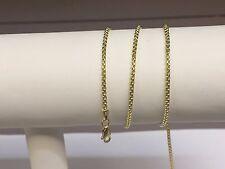 """14к золото круглой коробке ссылка подвеска chain/necklace 20 """" 1,7 мм 3.7 грамм rbx100"""