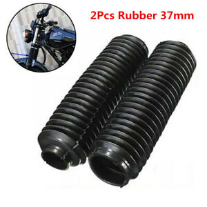 2Pcs 37mm Motorcycle Front Rubber Gaiter Boots Fork Shock Absorber Dust Cover