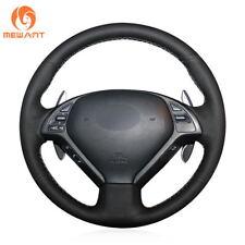 Black Leather Steering Wheel Cover for Infiniti G G25 G35 G37 QX50 EX EX35 EX37