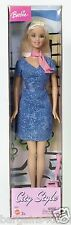 2003 BARBIE CITY STYLE BLUE DRESS PINK ACCESSORIES NRFP