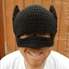 Men Batman Crochet Beanie Knitted Mask Hat Winter Autumn Warm Party Fancy Cospla