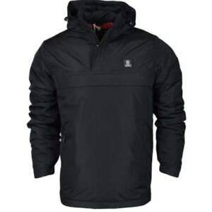 Franklin & Marshall Hooded Pullover Black Jacket Size Small VR37 016