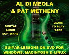 Al Di Meola Guitar TAB Lesson CD 157 TABS 32 Backing Tracks + BONUS Pat Metheny