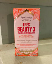 Reserveage Nutrition Tres Beauty 3 Collagen Keratin 90 Capsules Exp 07/2021 NEW