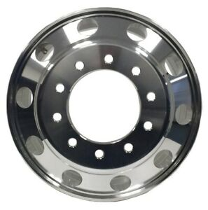 22.5 X 8.25 Forged Aluminum Truck Wheel Alcoa Style Outside Polished For Front