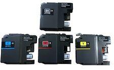 4x Tintenpatronen für Brother LC121 für DCP J552DW MFC J285DW refill