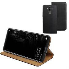 ECHT LEDER Buch Klapp Tasche Schutz Hülle BLA-L29 für Huawei Mate 10 Pro Dual