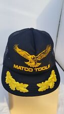 Vintage Matco Tools Snapback Hat Cap USA Made Black Mesh Trucker