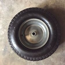 "16x6.50-8 2 Ply Tube Type 3/4"" ID 3"" Through Hub Keyed Mower Wheel Tire"